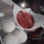 Venison wors with pap & chakalaka sauce