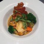 Monk Fish & Mussels & Parma Ham