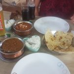 Fish madras and seafood curry