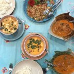Soup, curry and fried rice! Seriously some of the best Thai food we've eaten on our trip!