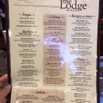 Evening menu