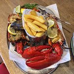 Whole grilled lobster from Sole Bay, Southwold