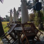 Aqua - the poolside restaurant in the morning