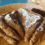 French toast with link sausage