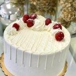 Beautiful store display case cake