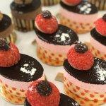 Raspberry promenade pastry