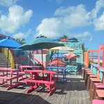 Nippers deck overlooking the beach.