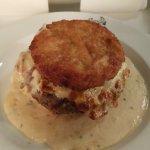 Hamburger sauce poivre,,,un délice servi avec ses frites fraiche