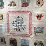 Quilt of major events in Sherman's life.