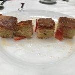 Fotos de la comida que hicimos en el restaurante Pilar del Toro, todo un manjar berenjenas a la