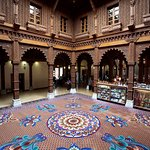 Atrium inside BAPS Shri Swaminarayan Mandir, London (Neasden Temple)