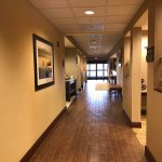 Hallway leading to Business Center, Breakfast Area, Lobby, & Front Desk
