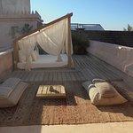 Une terrasse privative d'une des suites