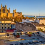 Roof terrace and Palma cathedral