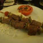 """Main course """"Rick's Filet de boeuf kebabs"""", too well done and lack of taste"""