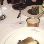 The cod and the beef with truffle mash