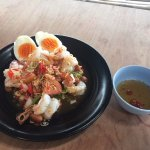 Lemon grass and prawn salad