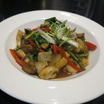 delicious stir fried vegetables from the vegetarian page of the menu