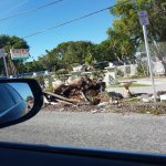 Road trip to Key West, mid November 2017.  Debris from rebuilding after hurricane Maria.