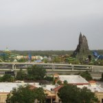 Great view of Universal's new water park Volcano Bay