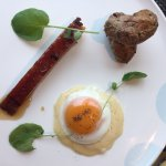 I loved the lightness of the egg on the brie fondue and the maple flavour of the pork belly