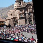 View of the Inti Raymi parade from the balcony