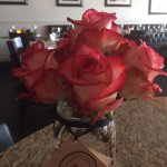 You will see roses at every table ONLY at Macaluso's