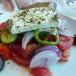Greek salad with the yummy fata cheese