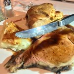 Prime rib with Yorkshire pudding and potatoes au gratin