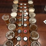 Beer flight--20 beers!!!!