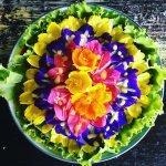 Spicy Flower Salad