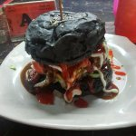 Black Bun (charcoal) Chicken with Egg