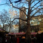 Odeon Leicester Square is an iconic backdrop to the micro Christmas market