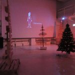 Special Xmas exhibition with alternative trees and video display