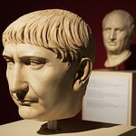 Emperor Trajanus, founder of CUT with Cicero behind