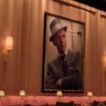 dining area with Frank Sinatra painting