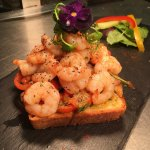 Special - Pan fried King Prawns served on toasted bruschetta