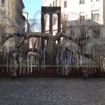 Raoul Wallenberg memorial park - weeping willow with victims names