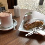 Apple Strudel and Hot Chocolate