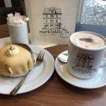Delicious marzipan cake