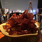 Osmanthus glazed beef flakes with chilli sauce