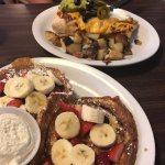 Cinnamon Roll French Toast & 3Amigo Burrito