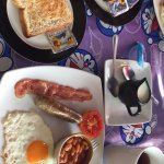 Small English breakfast (and additional toast from medium English breakfast shown)