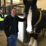My friend Daniel and one of the wonderful Shire horses
