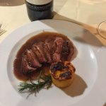 Duck Breast with Carrot soufflé