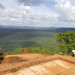 View from the top of Sigiriya ,notice the rainbow