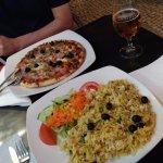 Bacalhau Gomes de Sá, e pizza!