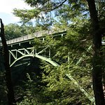 The bridge across Queechee Gorge that offers great views
