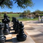 Life size chess game at the golf course