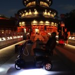 Rental Scooter in China at Disney Epcot